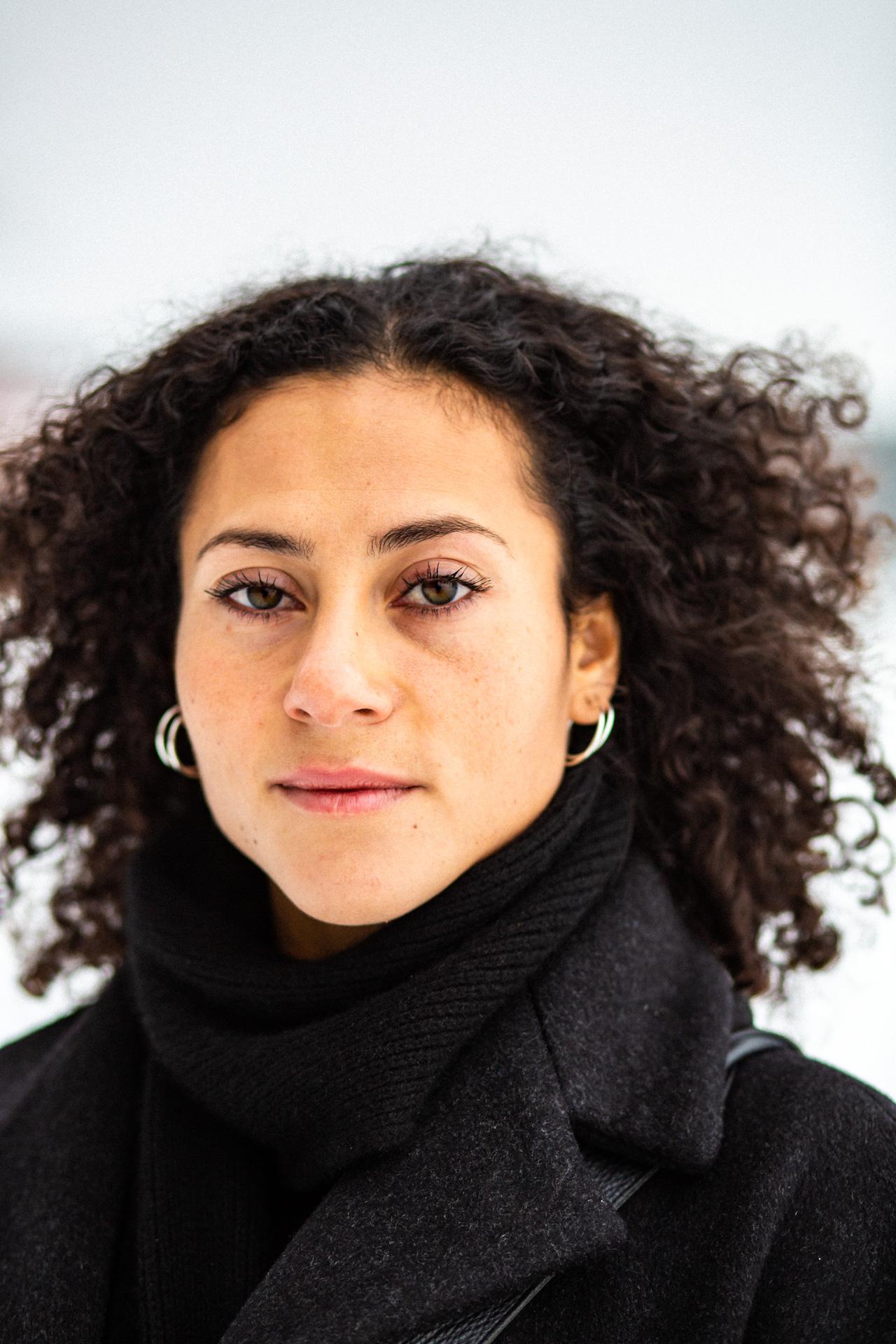 A portrait of Jasmina Amzil, 2019.