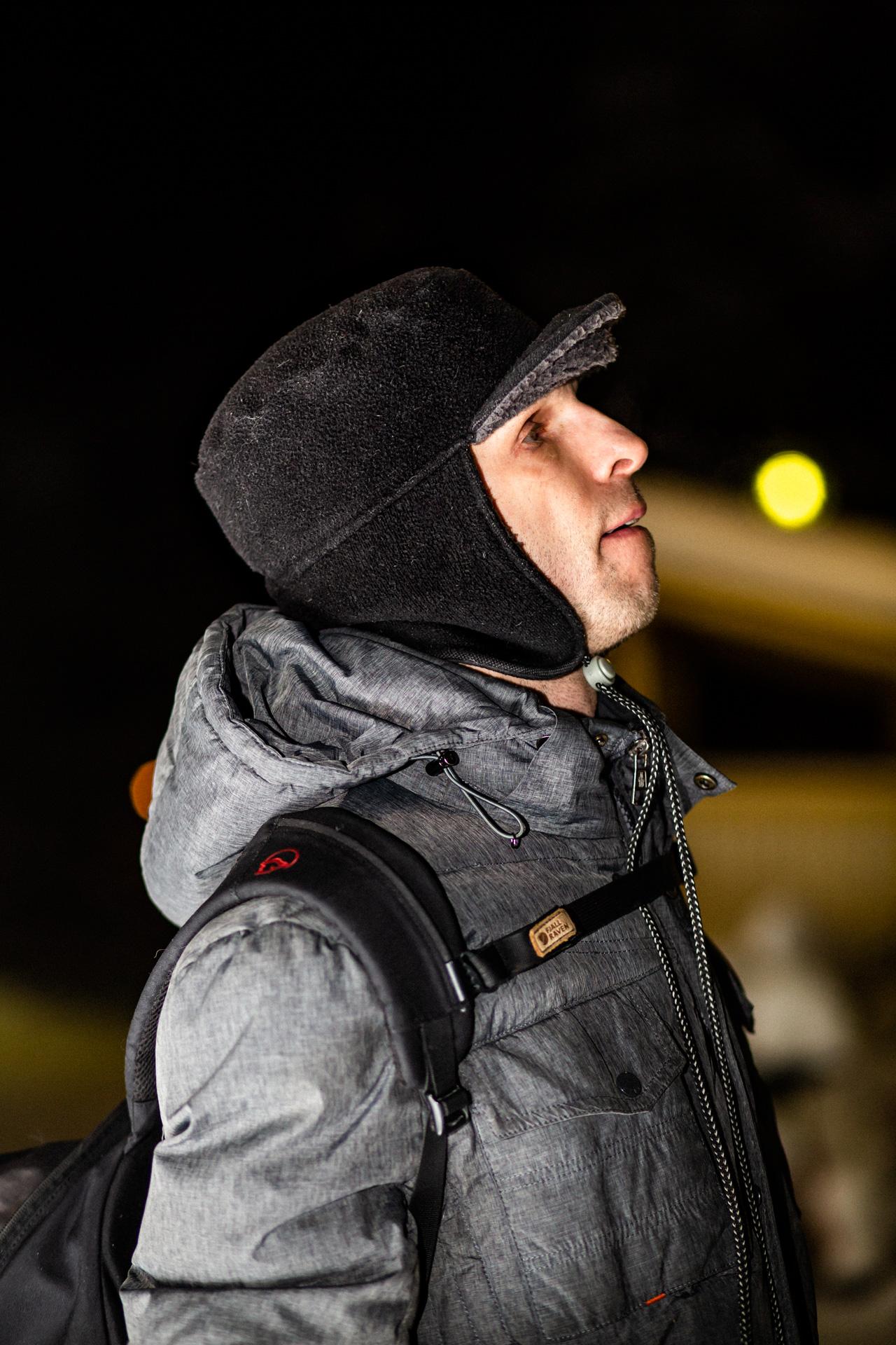 A portrait of Matti Hokkanen in Rovaniemi, 2019.